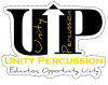 Unity Percussion Vinyl Sticker
